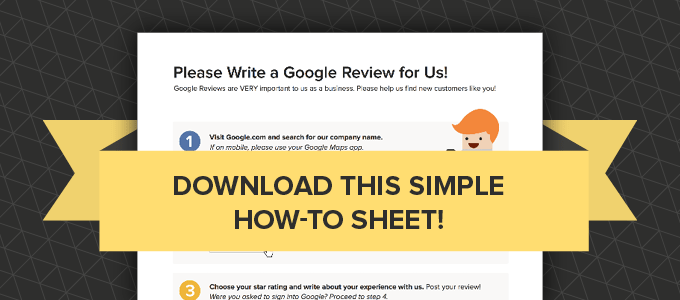 download a sheet to leave a google review
