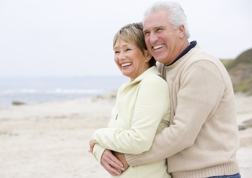 Dental Implants In Anchorage - Ahappy couple who have dentures