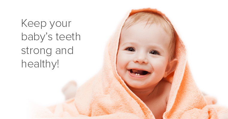 A smiling baby - Why baby teeth matter.